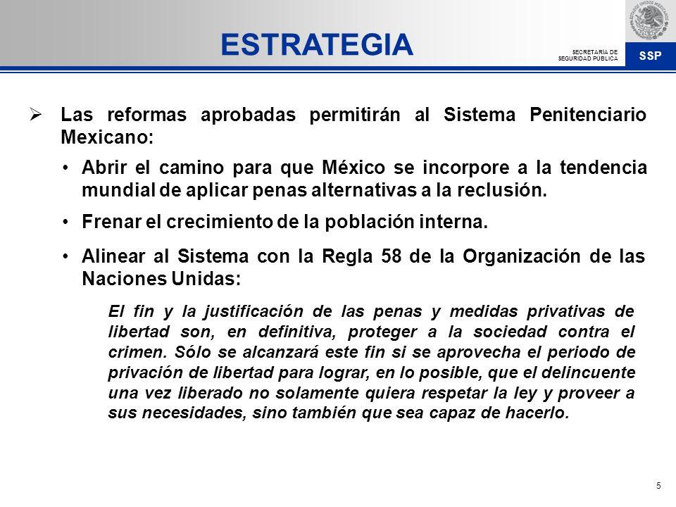 ESTRATEGIA Las reformas aprobadas permitirán al Sistema Penitenciario Mexicano: