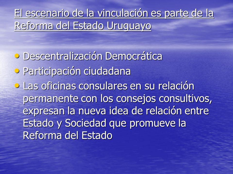 El escenario de la vinculación es parte de la Reforma del Estado Uruguayo