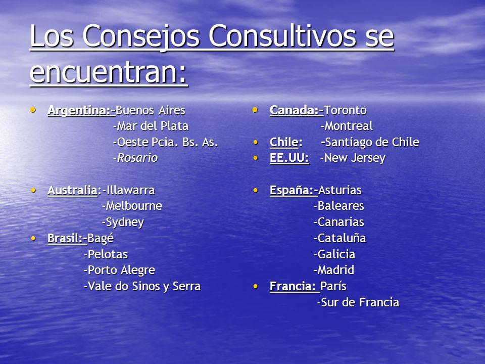 Los Consejos Consultivos se encuentran: