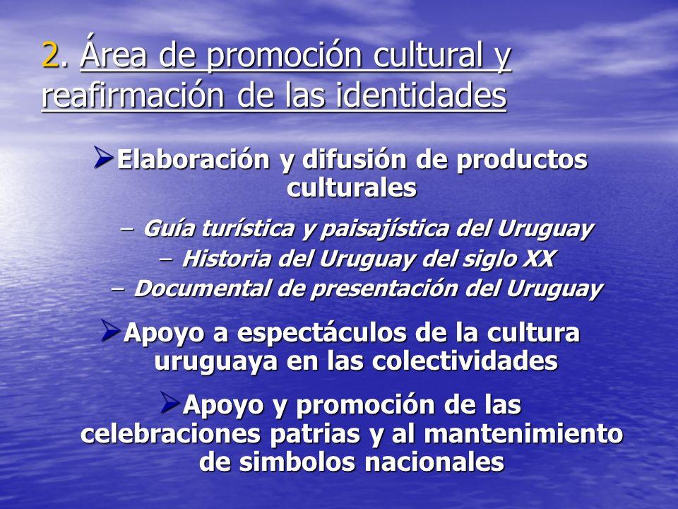 . Área de promoción cultural y reafirmación de las identidades