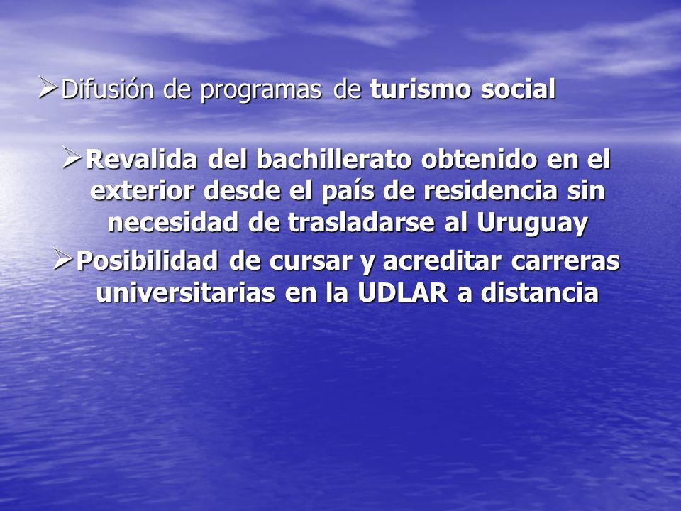 Difusión de programas de turismo social