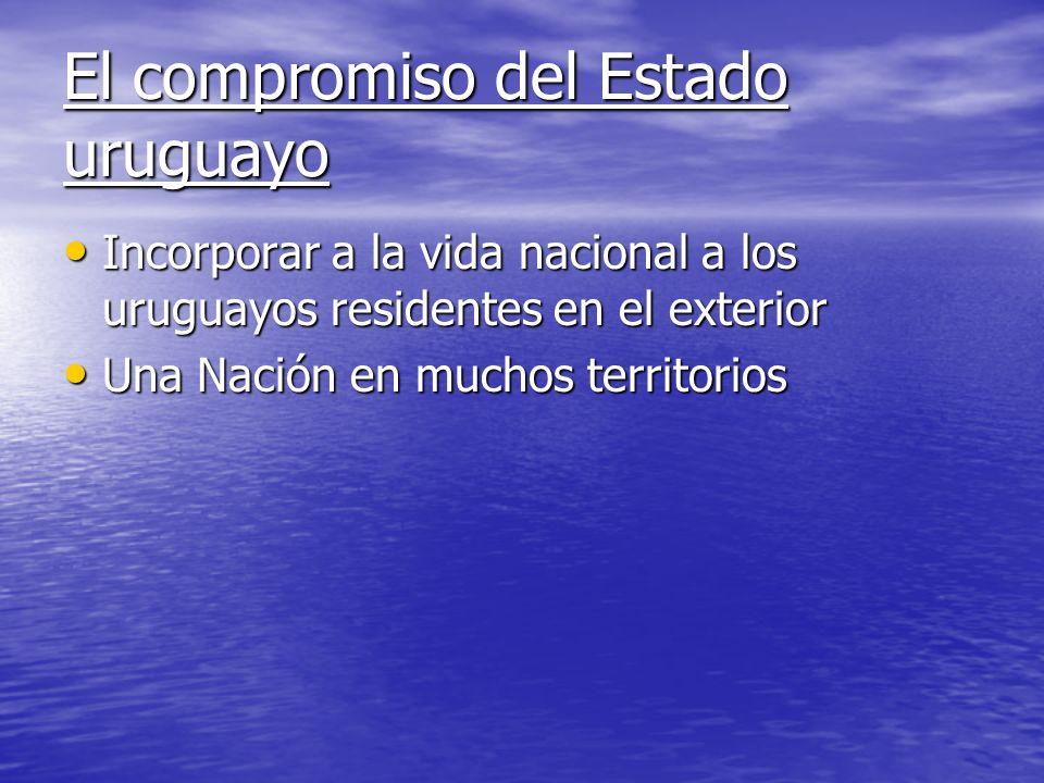 El compromiso del Estado uruguayo