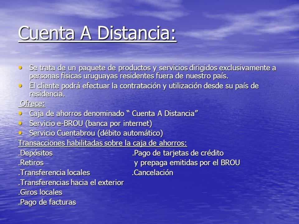 Cuenta A Distancia: