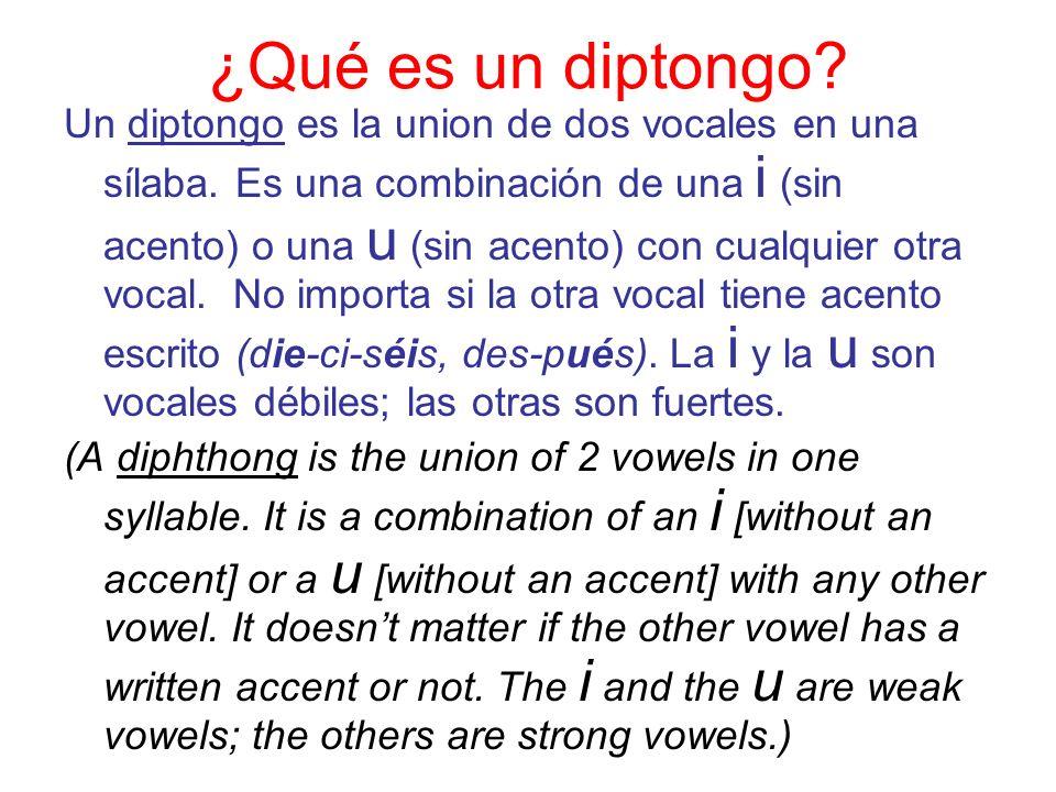 ¿Qué es un diptongo