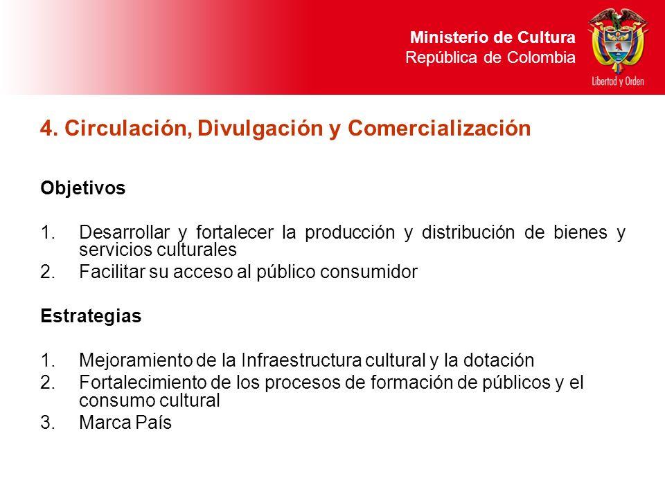 4. Circulación, Divulgación y Comercialización