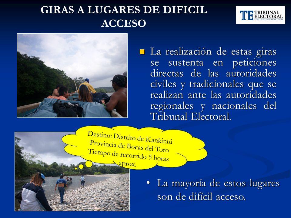 GIRAS A LUGARES DE DIFICIL ACCESO