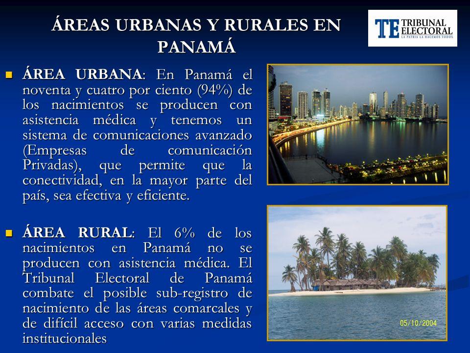 ÁREAS URBANAS Y RURALES EN PANAMÁ