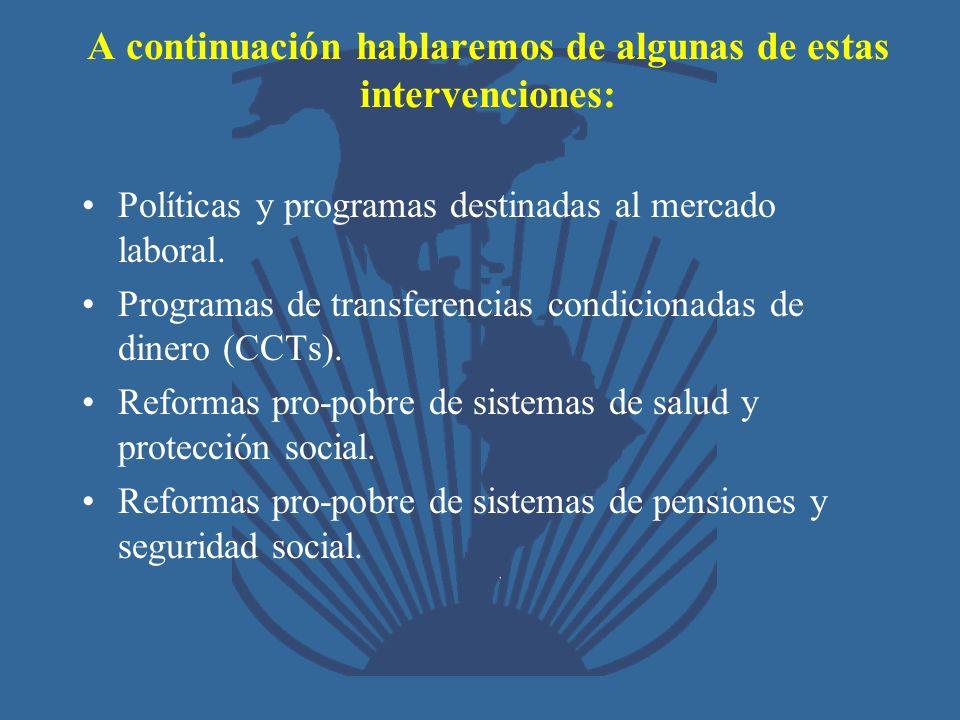 A continuación hablaremos de algunas de estas intervenciones: