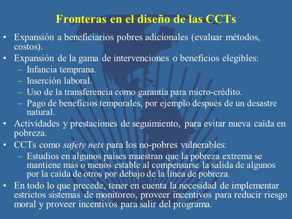 Fronteras en el diseño de las CCTs