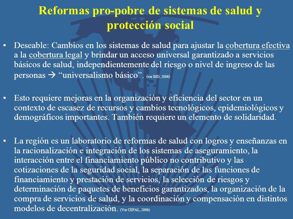 Reformas pro-pobre de sistemas de salud y protección social