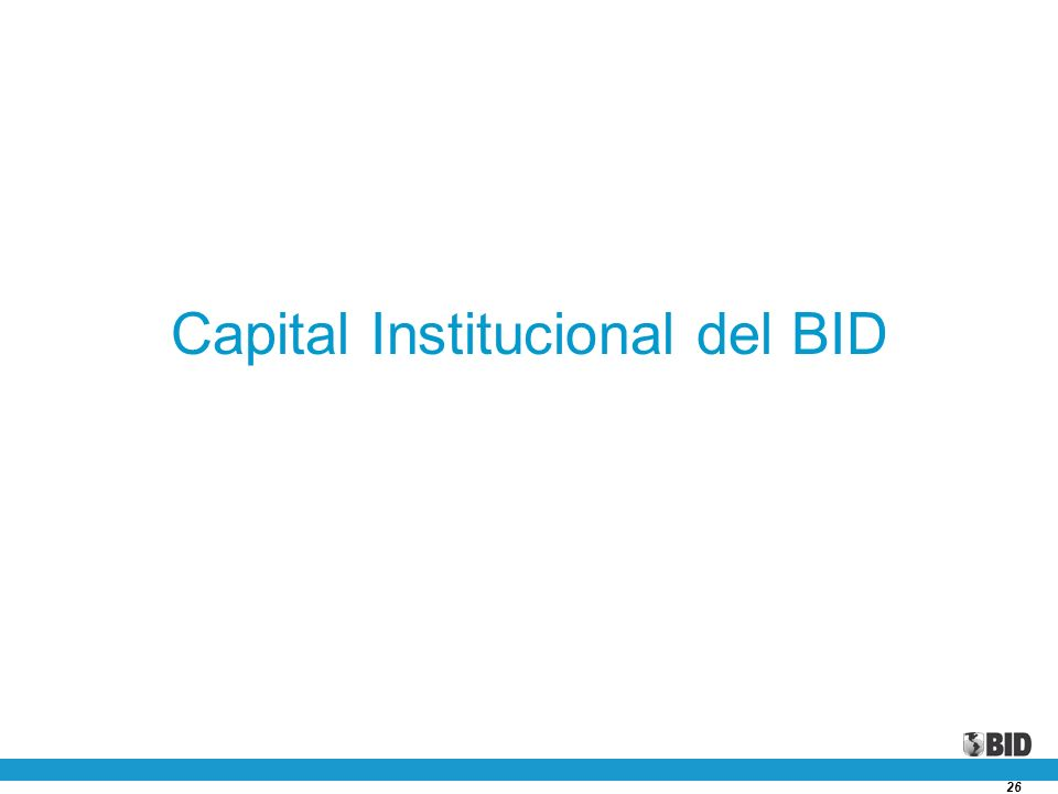 Capital Institucional del BID