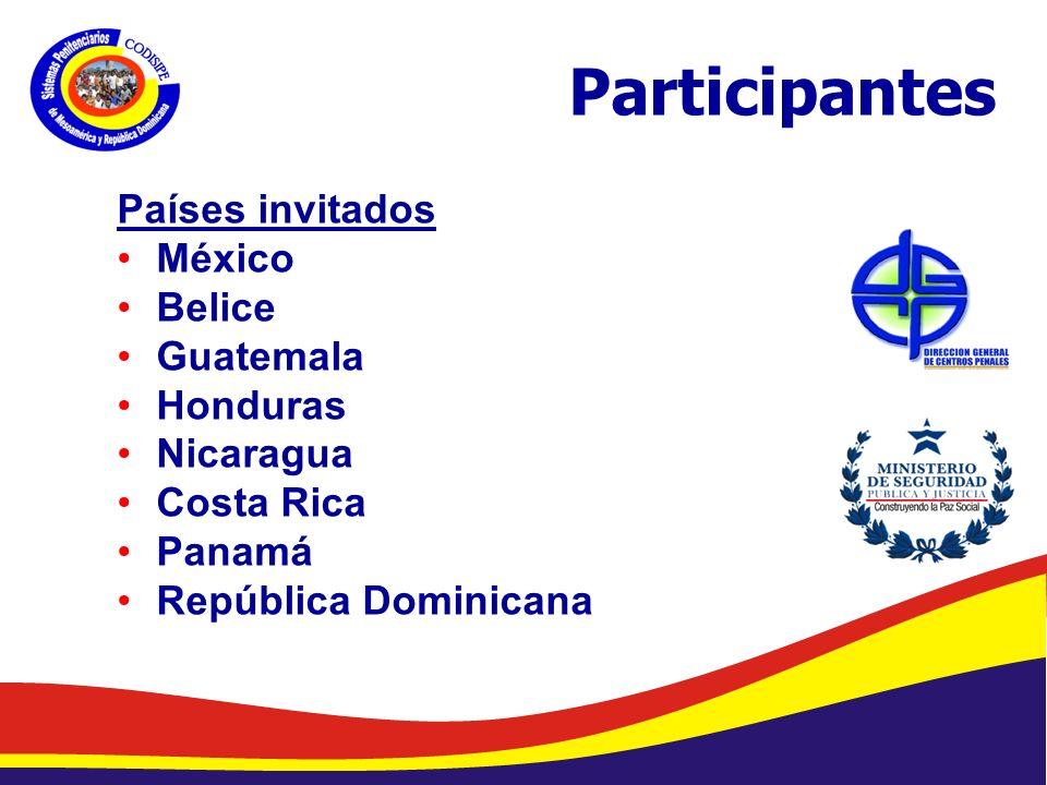 Participantes Países invitados México Belice Guatemala Honduras