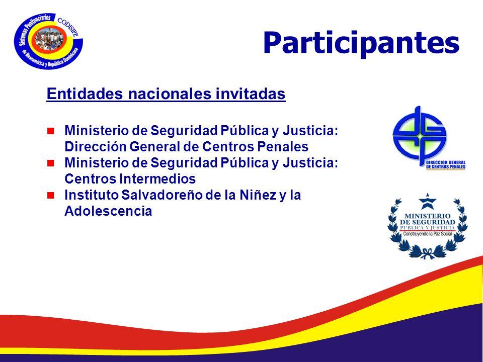 Participantes Entidades nacionales invitadas
