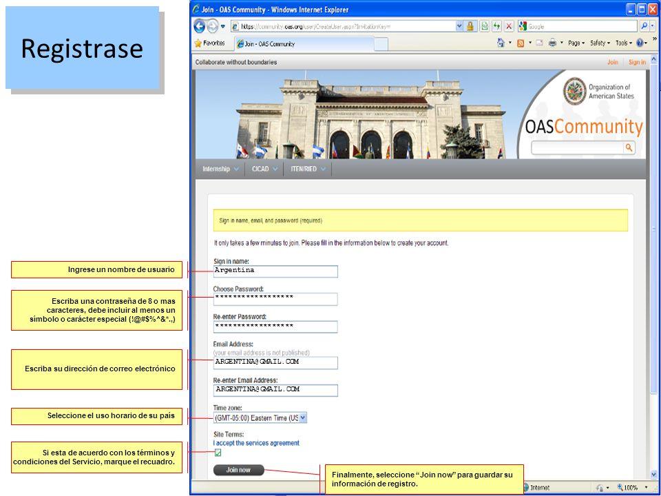 Registrase Ingrese un nombre de usuario Argentina