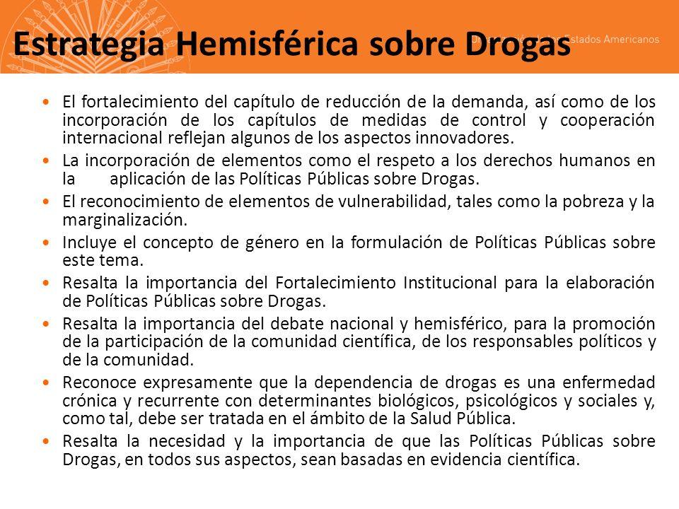 Estrategia Hemisférica sobre Drogas