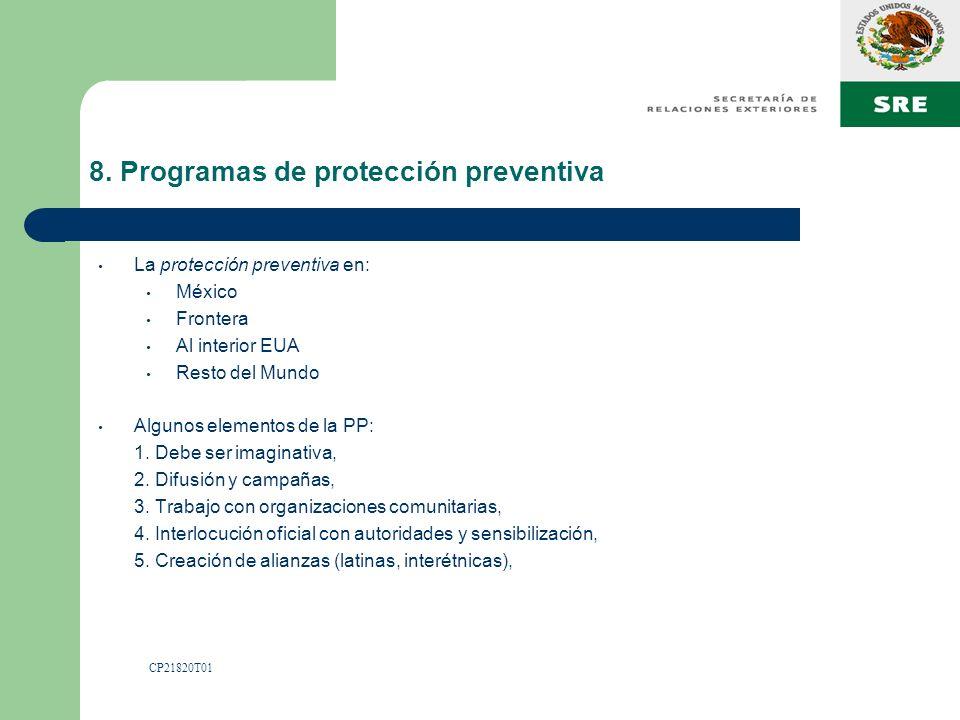 8. Programas de protección preventiva