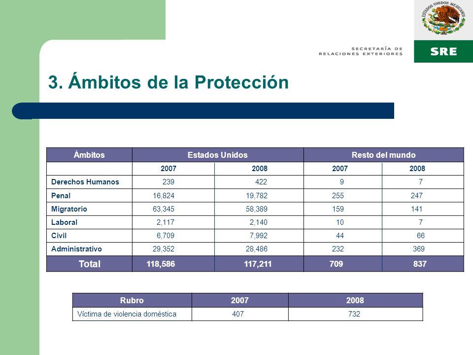 3. Ámbitos de la Protección