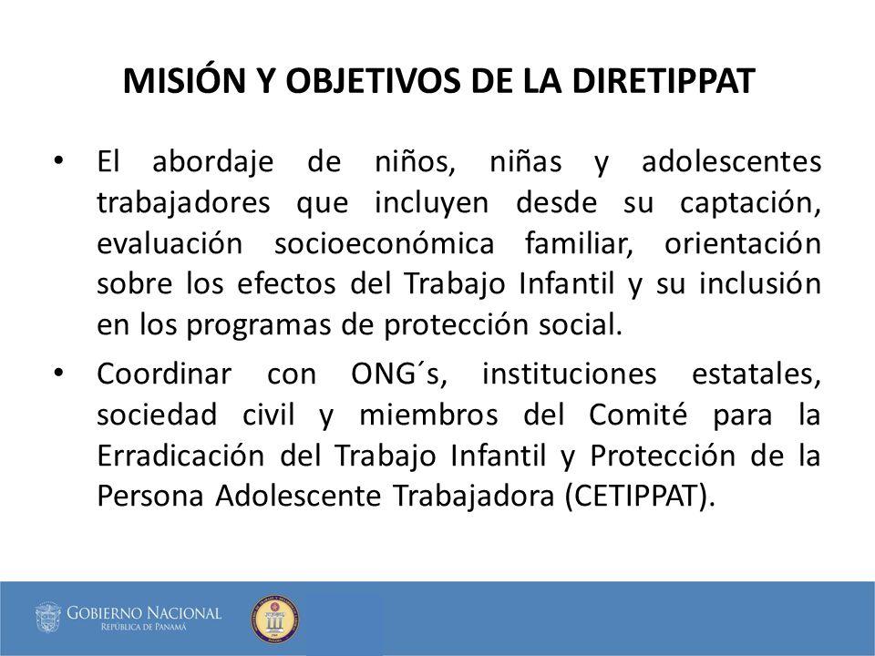 MISIÓN Y OBJETIVOS DE LA DIRETIPPAT
