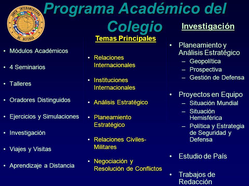 Programa Académico del Colegio