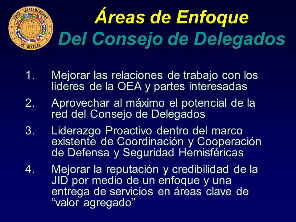 Áreas de Enfoque Del Consejo de Delegados
