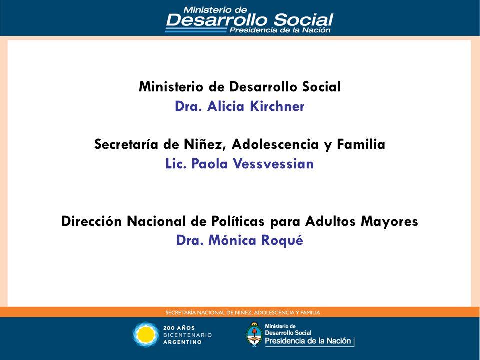 Ministerio de Desarrollo Social Dra. Alicia Kirchner