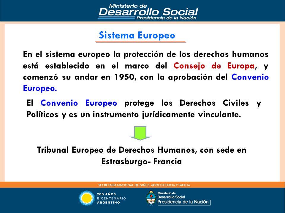 Tribunal Europeo de Derechos Humanos, con sede en Estrasburgo- Francia