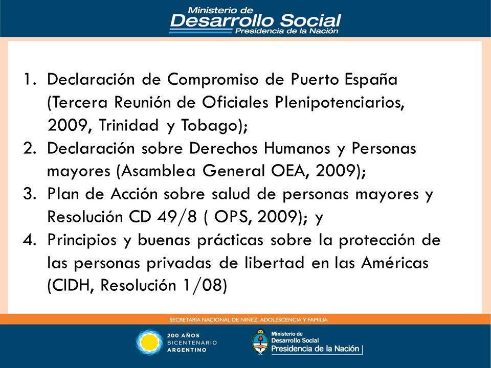 Declaración de Compromiso de Puerto España (Tercera Reunión de Oficiales Plenipotenciarios, 2009, Trinidad y Tobago);