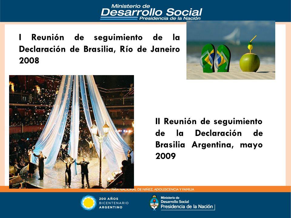 I Reunión de seguimiento de la Declaración de Brasilia, Río de Janeiro 2008