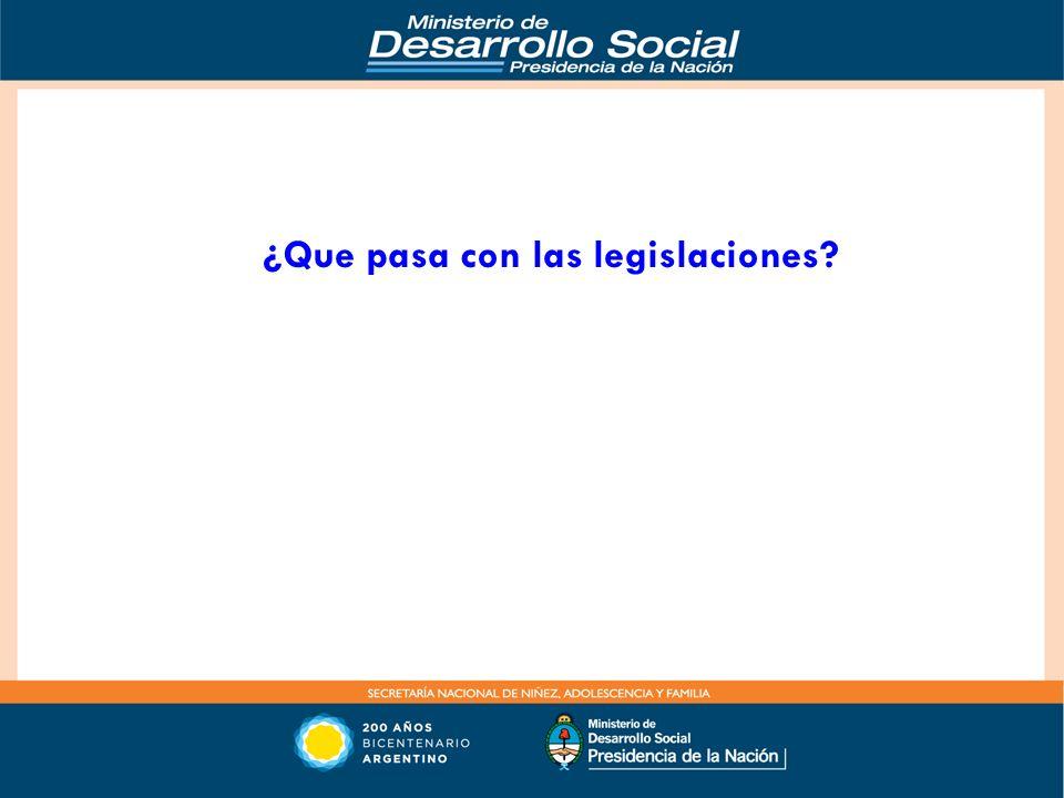¿Que pasa con las legislaciones