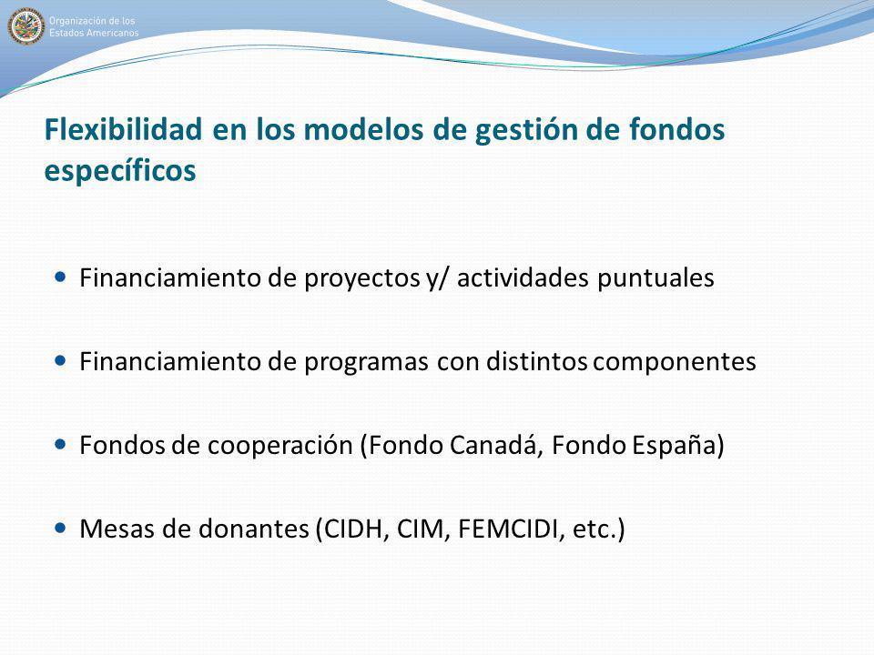 Flexibilidad en los modelos de gestión de fondos específicos