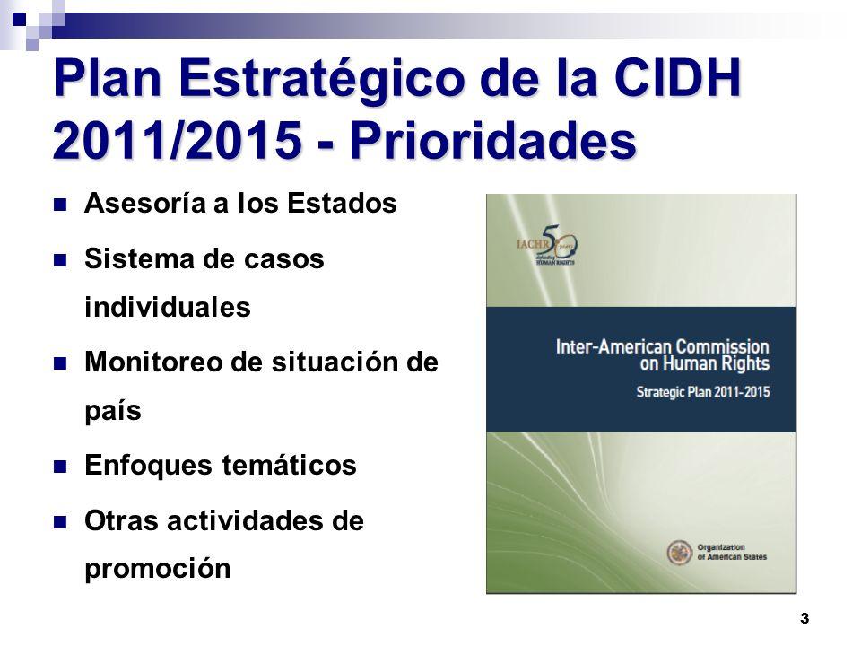 Plan Estratégico de la CIDH 2011/2015 - Prioridades