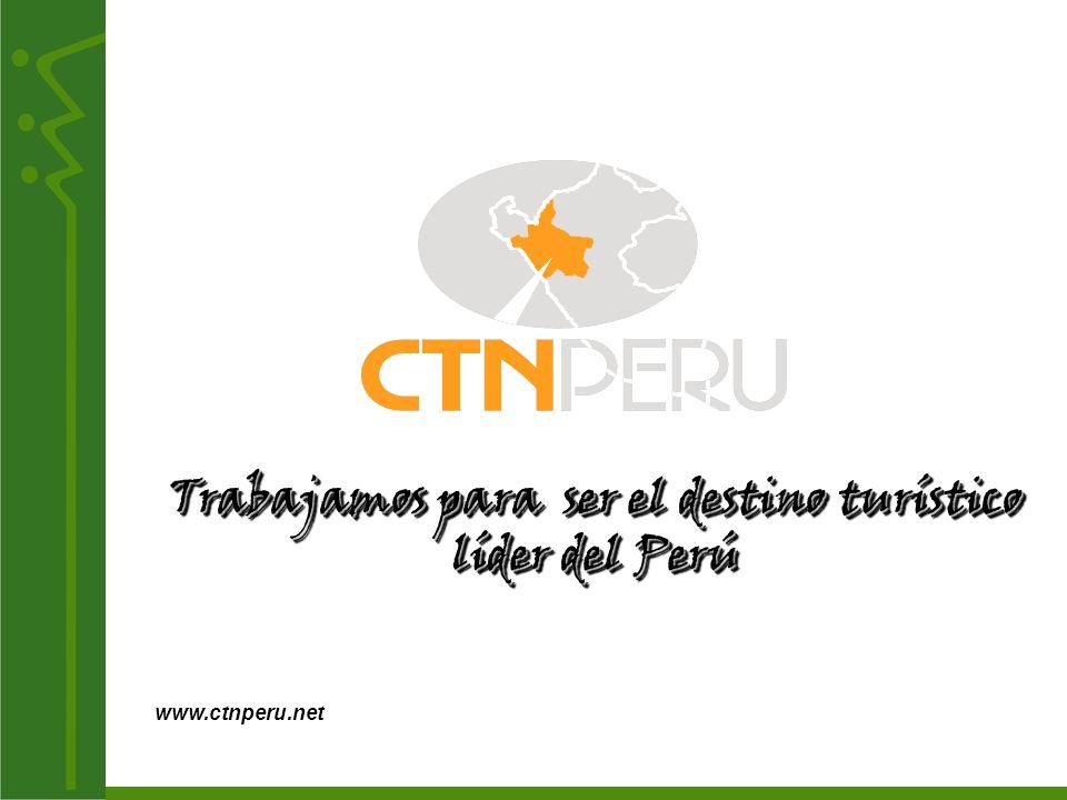 Trabajamos para ser el destino turístico líder del Perú