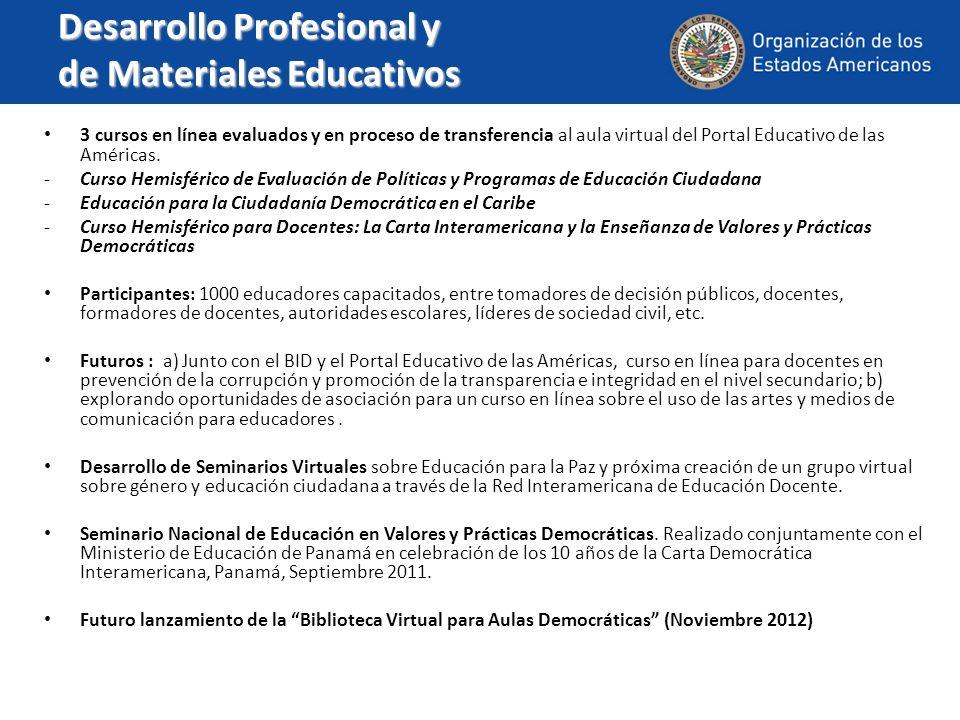 Desarrollo Profesional y de Materiales Educativos