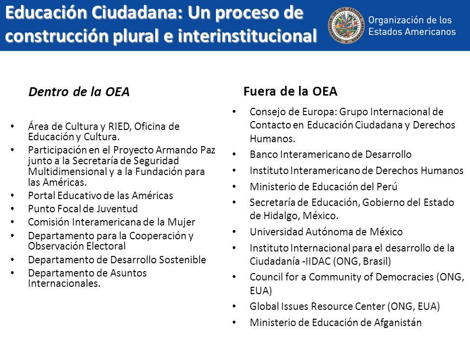 Educación Ciudadana: Un proceso de construcción plural e interinstitucional