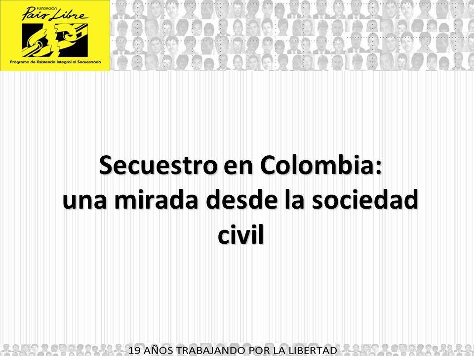 Secuestro en Colombia: una mirada desde la sociedad civil