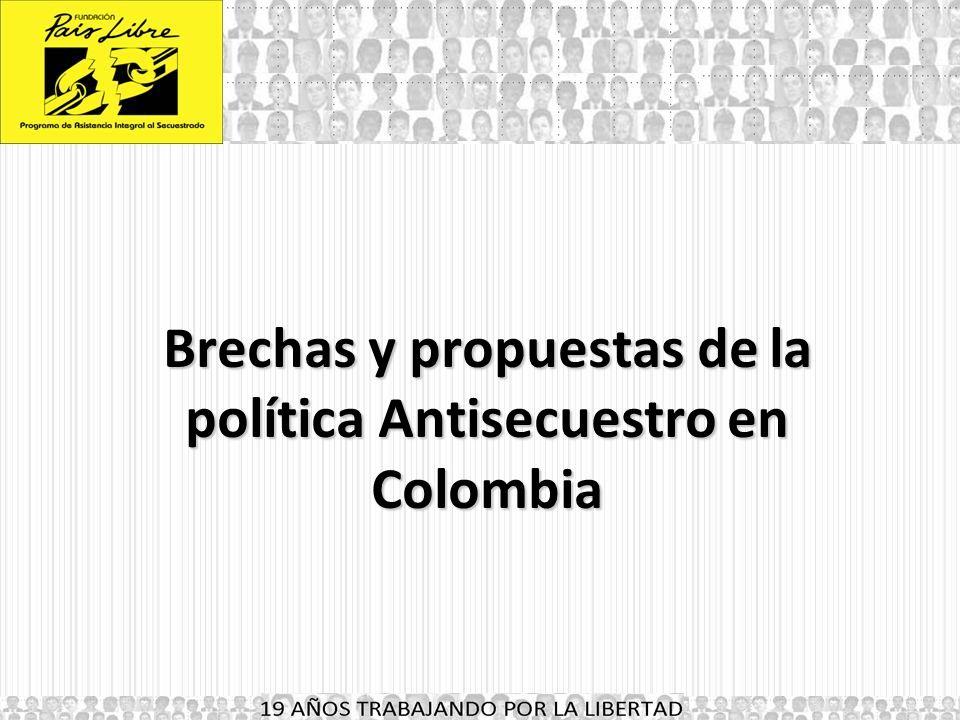 Brechas y propuestas de la política Antisecuestro en Colombia