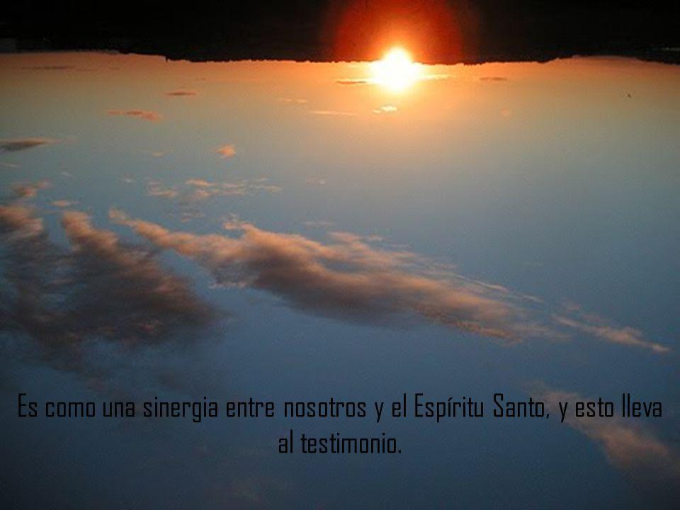 Es como una sinergia entre nosotros y el Espíritu Santo, y esto lleva al testimonio.