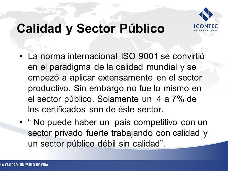 Calidad y Sector Público