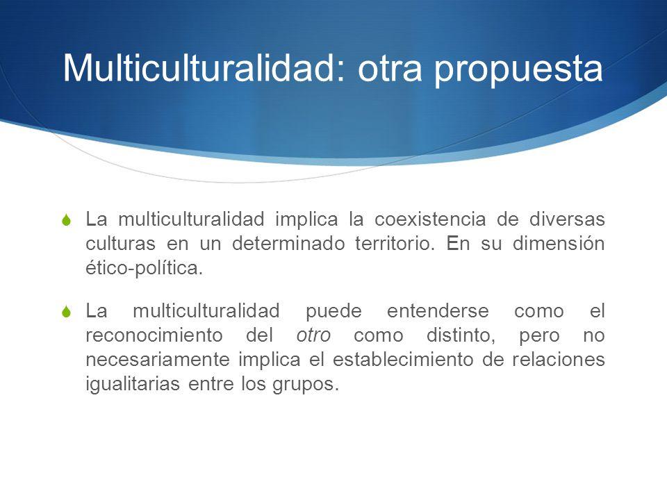 Multiculturalidad: otra propuesta