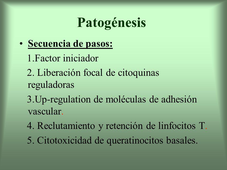 Patogénesis Secuencia de pasos: 1.Factor iniciador