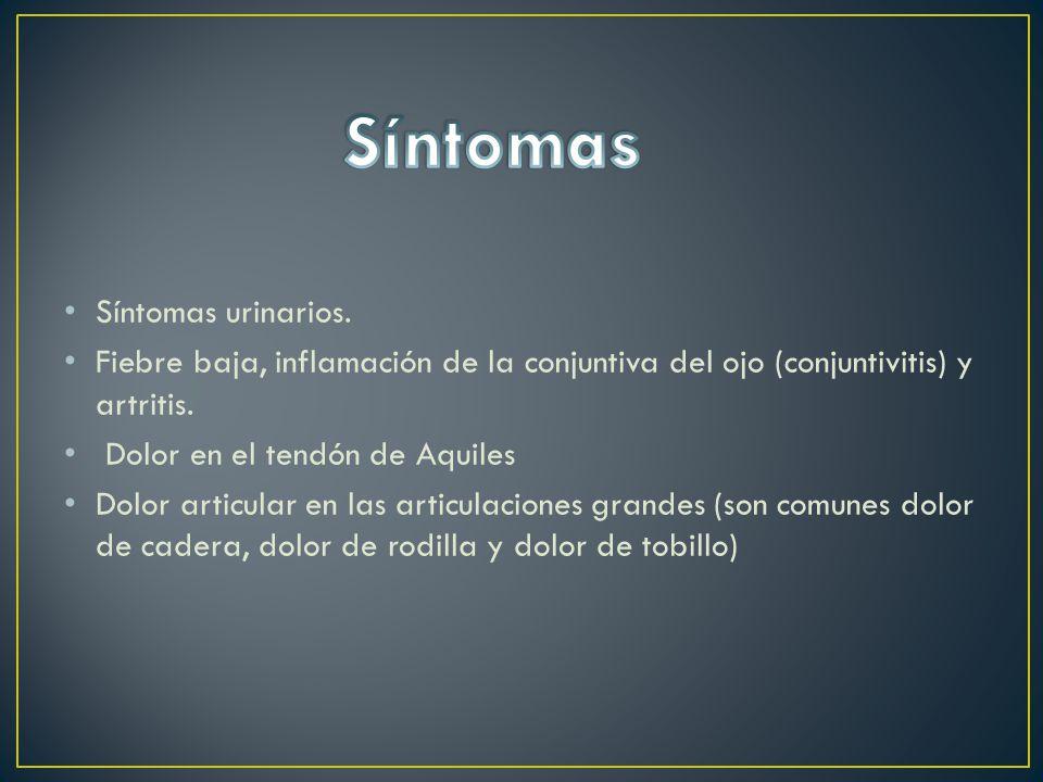 Síntomas Síntomas urinarios.