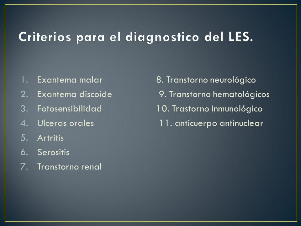 Criterios para el diagnostico del LES.