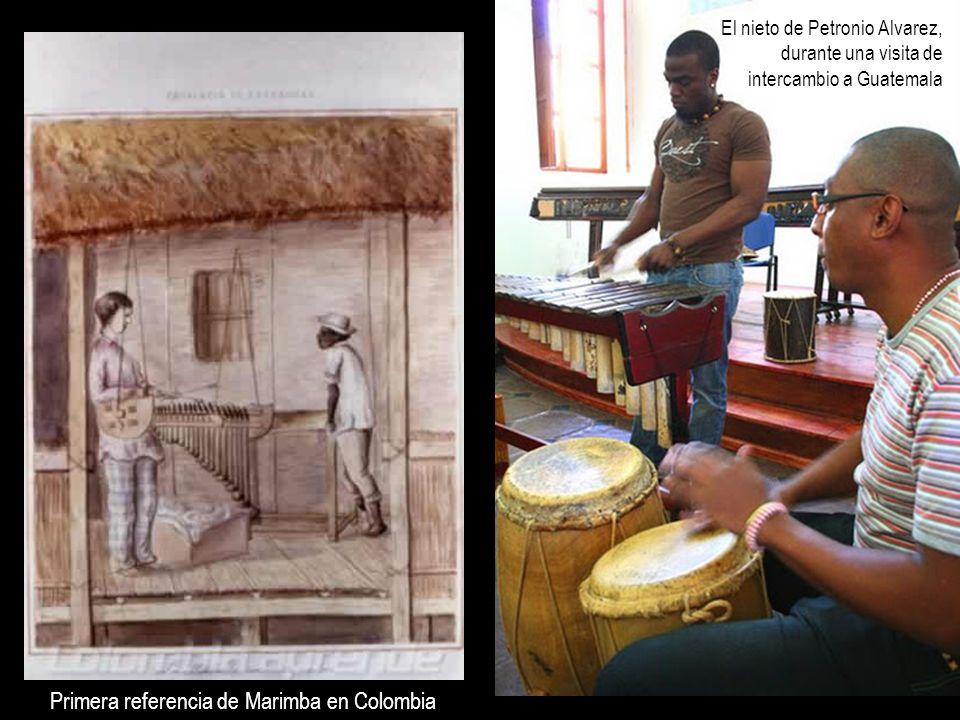 Primera referencia de Marimba en Colombia