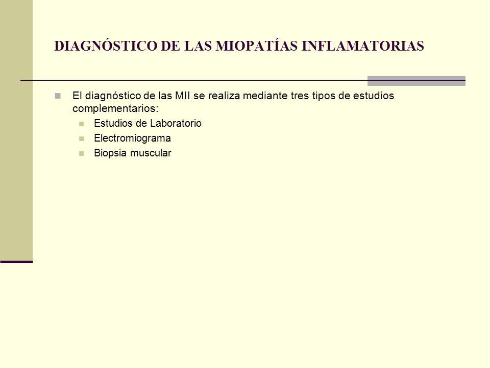 DIAGNÓSTICO DE LAS MIOPATÍAS INFLAMATORIAS