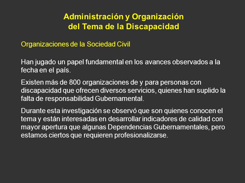 Administración y Organización del Tema de la Discapacidad