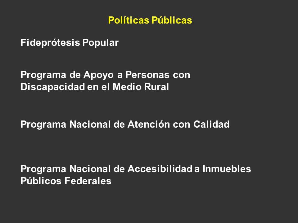 Políticas Públicas Fideprótesis Popular. Programa de Apoyo a Personas con Discapacidad en el Medio Rural.