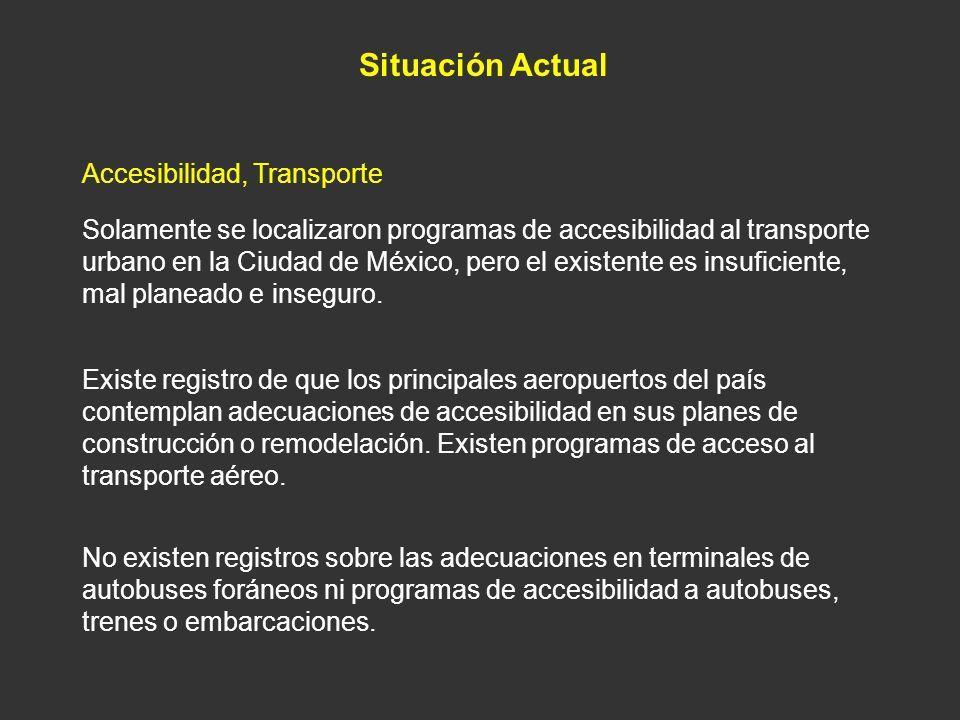 Situación Actual Accesibilidad, Transporte