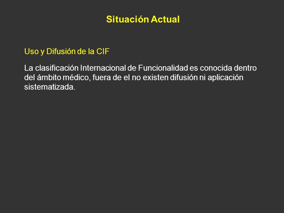 Situación Actual Uso y Difusión de la CIF