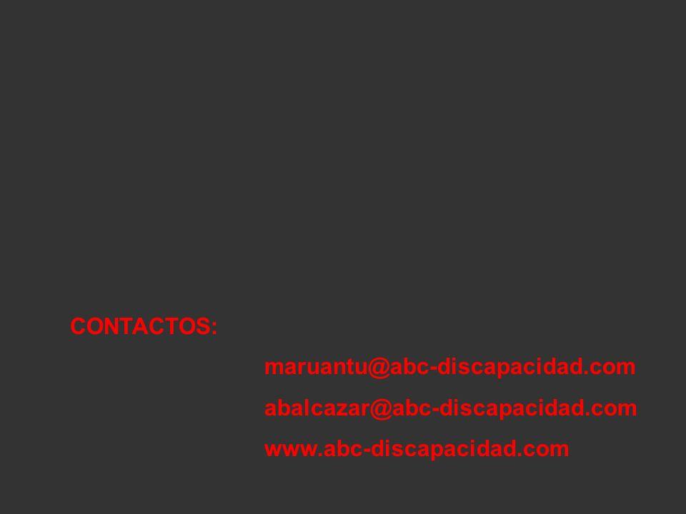 CONTACTOS: maruantu@abc-discapacidad.com abalcazar@abc-discapacidad.com www.abc-discapacidad.com