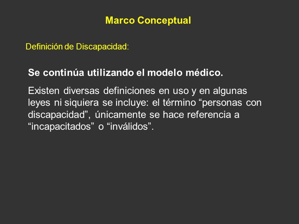 Se continúa utilizando el modelo médico.